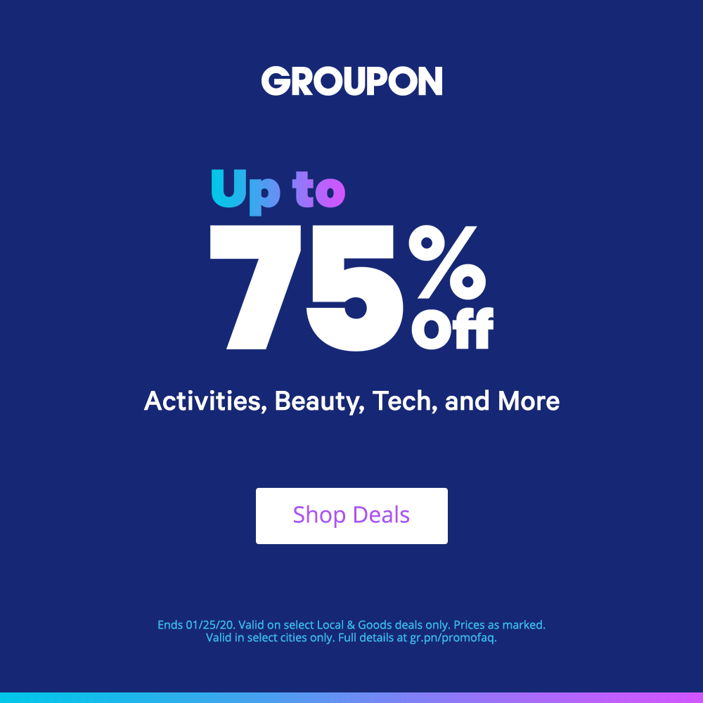 Groupon: Up to 75% OFF Coupons