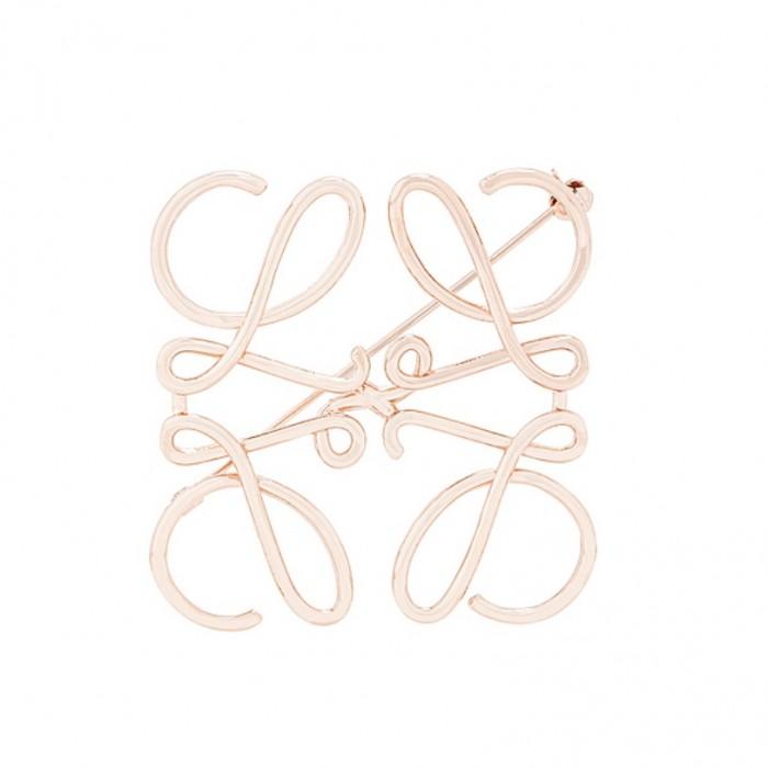 FORWARD:Loewe Rose gold brooch
