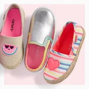 Carter's: Buy 1 Get 1 Free Shoes