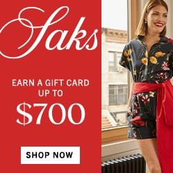 Saks Fifth Avenue: Up to 70% OFF+Up to $700 Gift Card