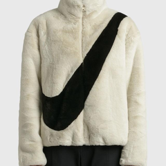 【Jennie同款】HBX:NIKE FAUX FUR 羊羔绒外套 白色