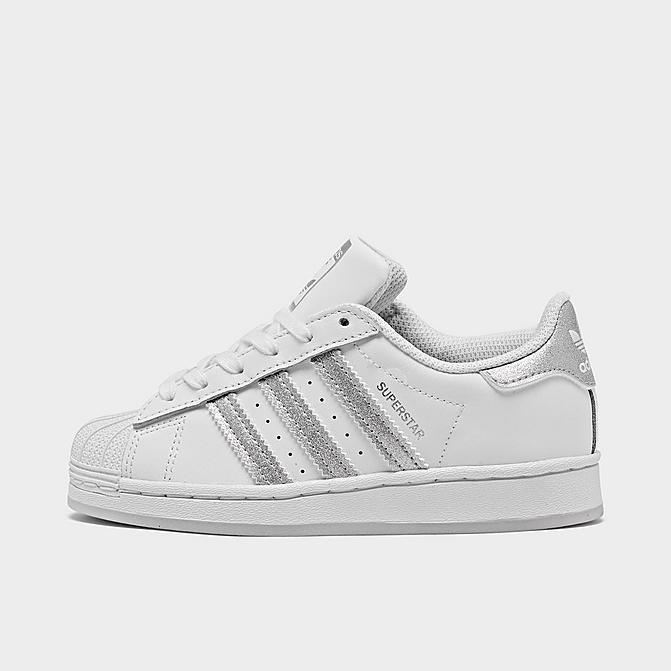 Adidas 阿迪达斯 Superstar 银条纹幼童款贝壳头休闲鞋