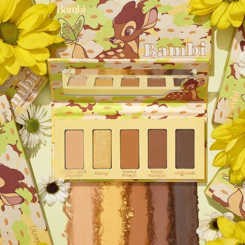 ColourPop×小鹿斑比联名系列 bambi palette五色眼影盘