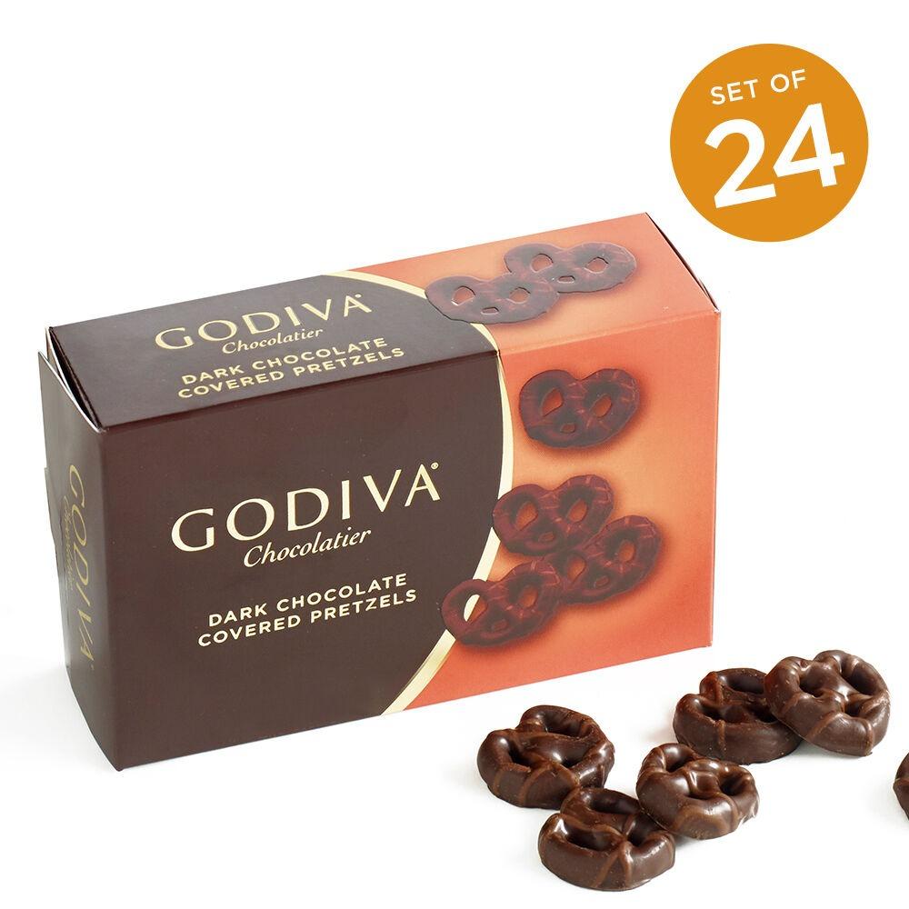 Godiva mini黑巧克力椒盐脆饼