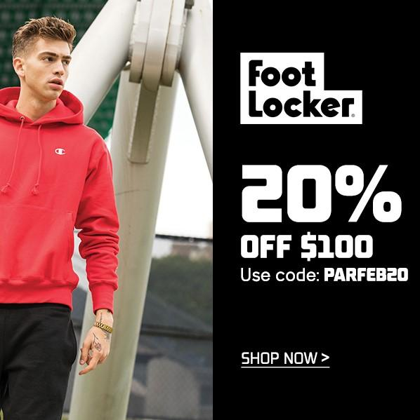 Foot Locker: Up to 20% OFF Sale