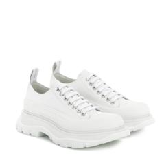 【6.3折】ALEXANDER MCQUEEN 麦昆 粉色厚底 小白鞋