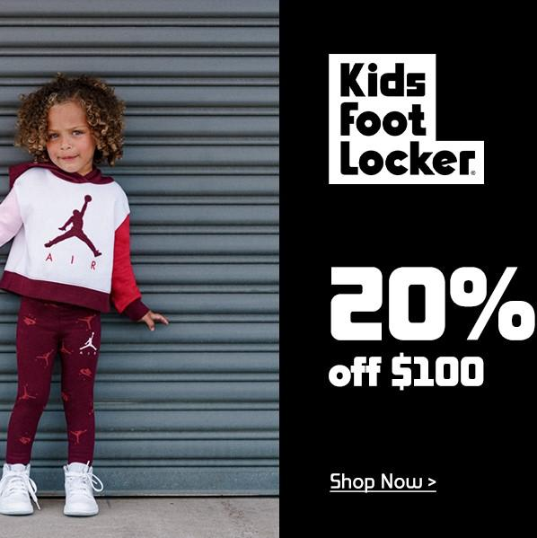 Kids Footlocker: Up to 20% OFF Sneakers