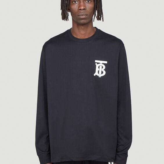 Burberry TB Monogram 黑色长袖 logo卫衣