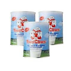 【3件装包邮含税】荷兰 TWO COWS 双牛成人奶粉罐装900Gx3