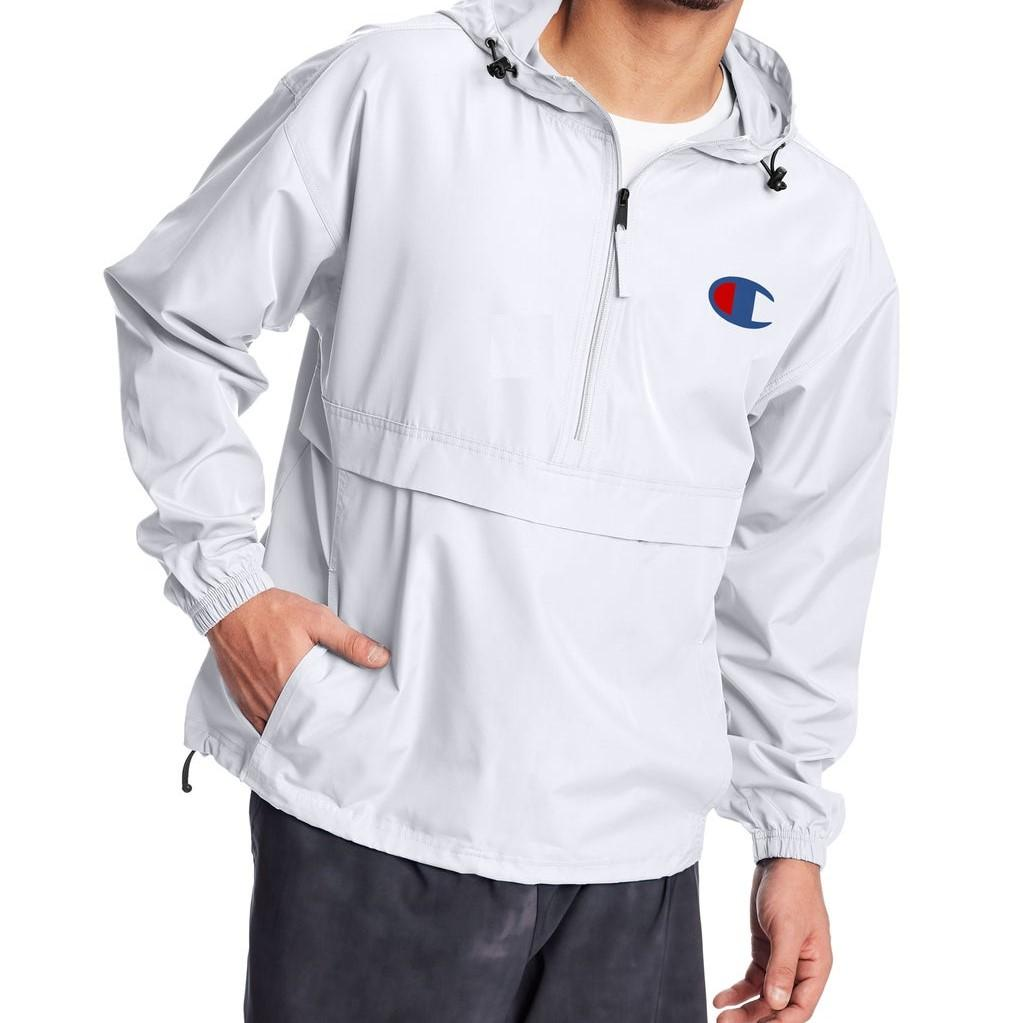 Champion Stadium Packable Jacket, Retro Block + C Logo