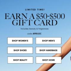 Neiman Marcus:买正价时尚单品美妆 最高可得$500礼卡