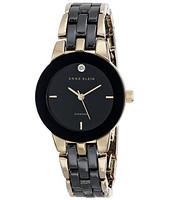 【亚马逊海外购】Anne Klein AK/1610BKGB 女士镶钻时装腕表