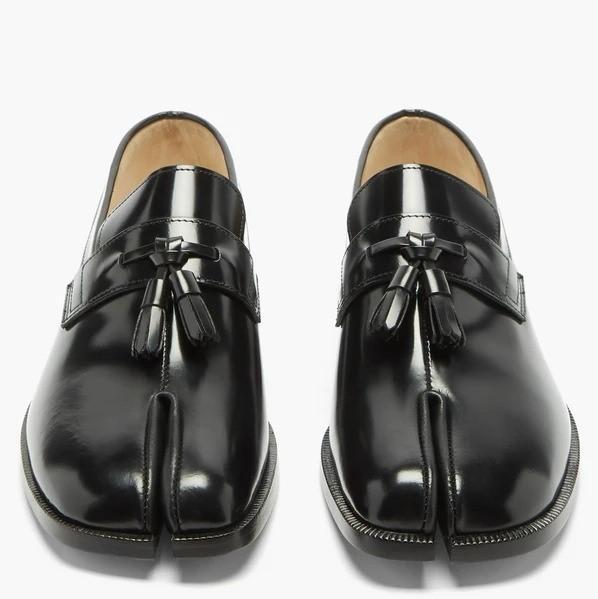 MAISON MARGIELA 分趾漆皮乐福鞋