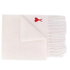 【7折包税直邮】AMI Paris 爱心贴花围巾 两色