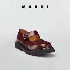 【包税包邮中国】Marni 早春小牛皮玛丽珍鞋