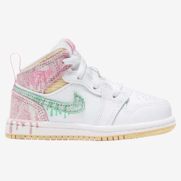 Jordan AJ 1 Mid 童鞋 粉冰淇淋 少量