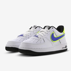 Nike Air Force 1 童鞋 白蓝黄 码全