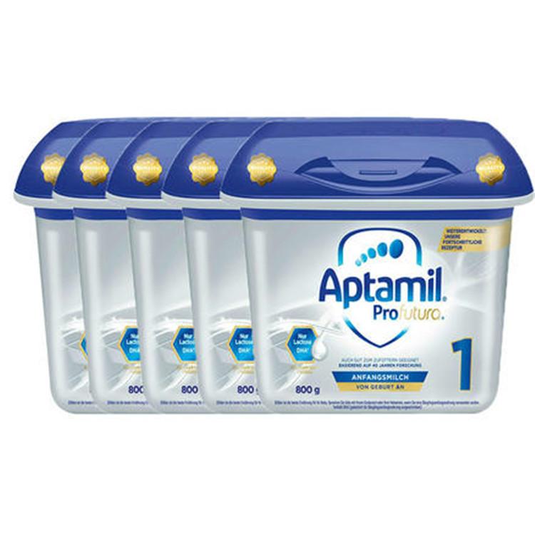 Aptamil 爱他美 白金版婴儿配方奶粉 1段(0-6个月)800gx5