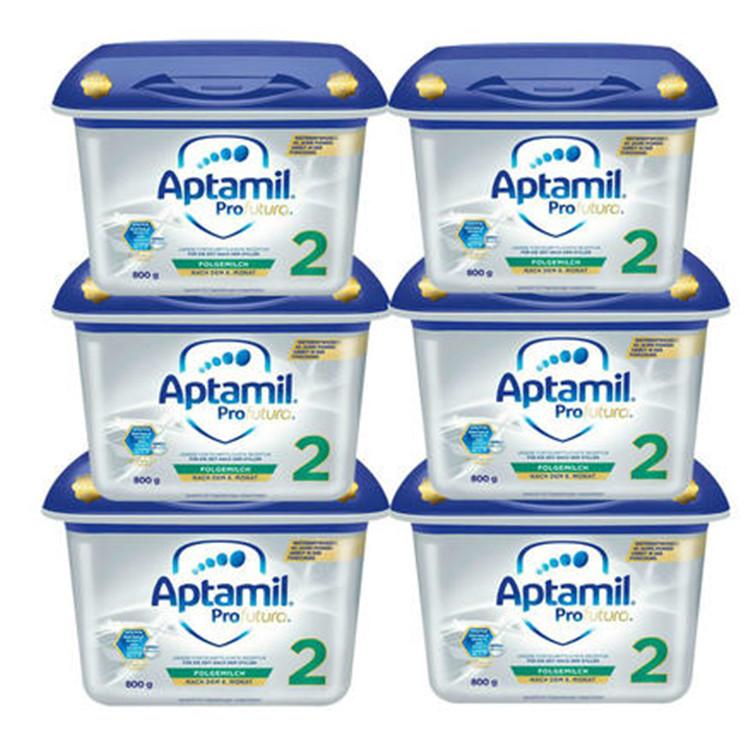 Aptamil 爱他美 白金版婴儿配方奶粉 2段 800gx6