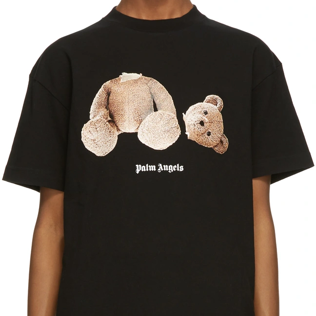 PALM ANGELS Black Bear T-Shirt