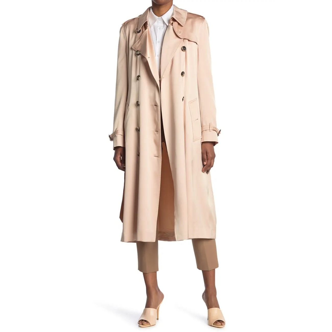Burberry Boscastle Silk Trench Coat