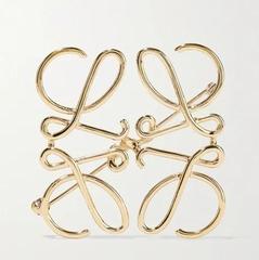 LOEWE 金色胸针