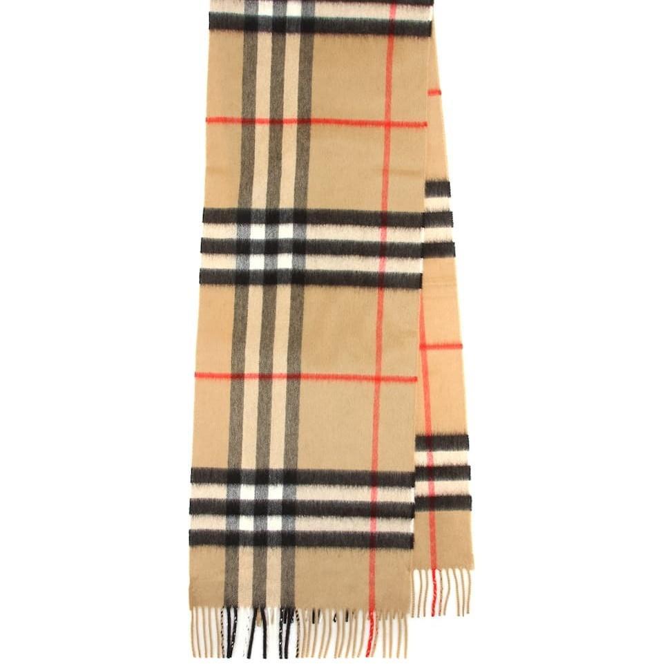 Burberry 条纹羊绒围巾