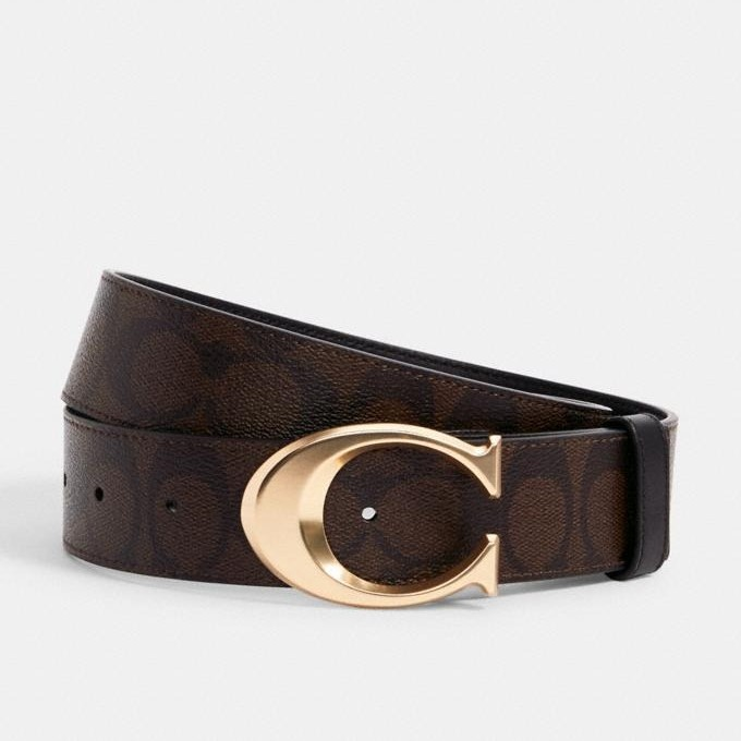 Coach Signature Buckle Belt, 38mm
