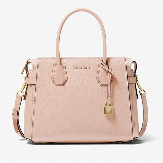 MICHAEL KORS Mercer Medium Pebbled Belted Satchel