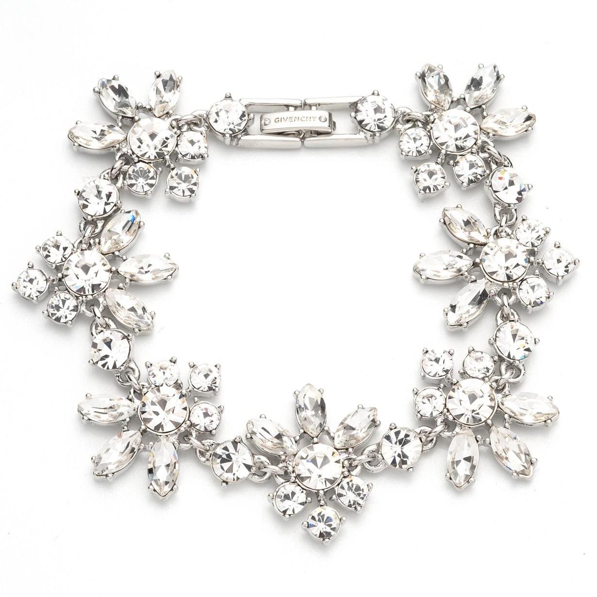 Givenchy Silver-Tone Crystal Starburst Flex Bracelet