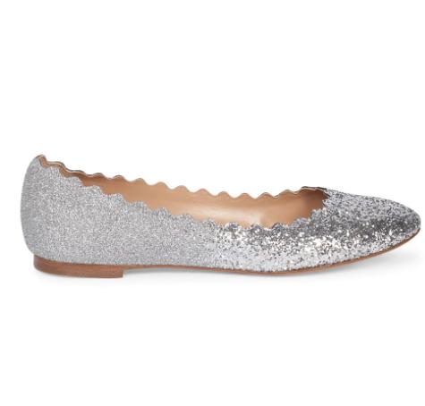 Chloé Lauren Ombré Glitter Ballet Flats
