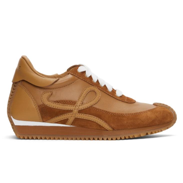 LOEWE Tan Flow Runner Sneakers