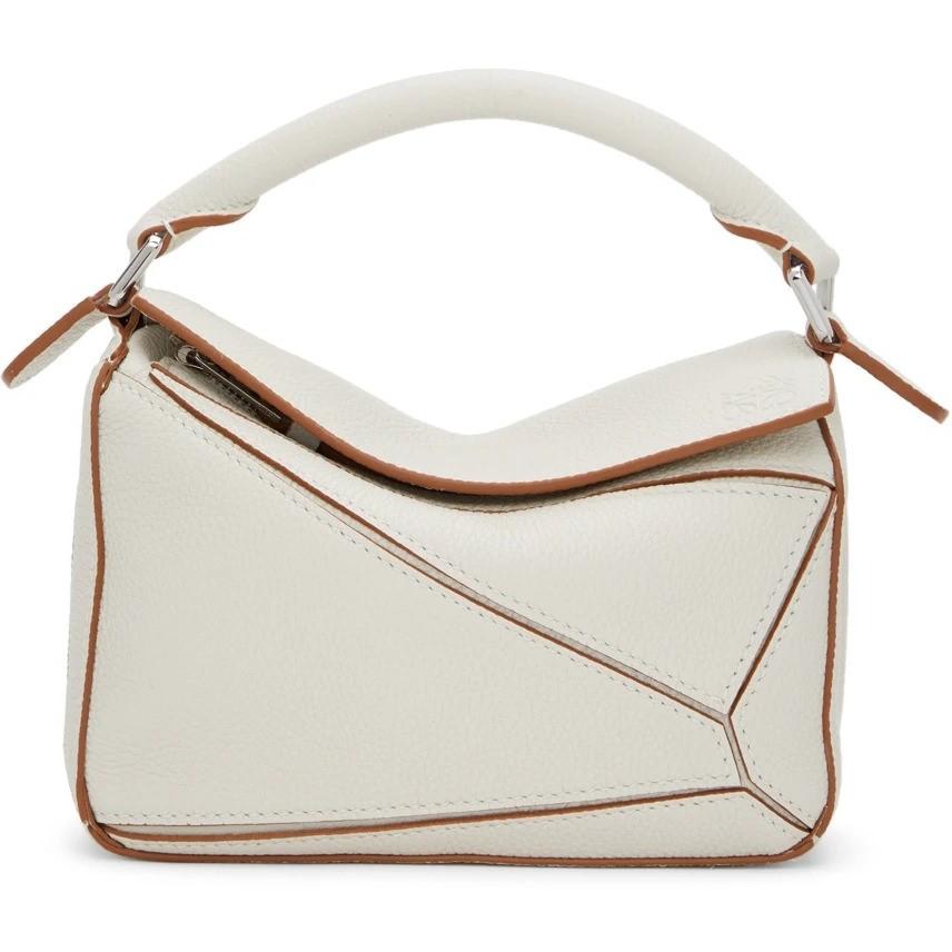 LOEWE White & Green Mini Puzzle Bag