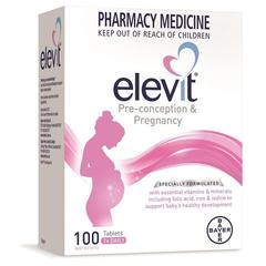 【包税直邮】Elevit 爱乐维 备孕/孕妇孕期复合维生素叶酸片 100片
