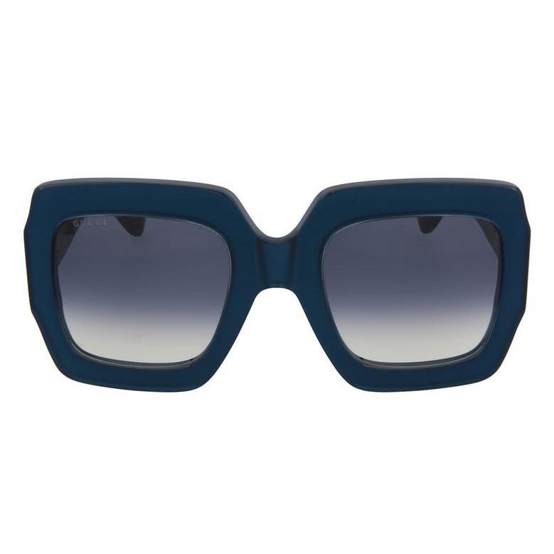Gucci 古驰 54mm 超大方框墨镜 蓝色