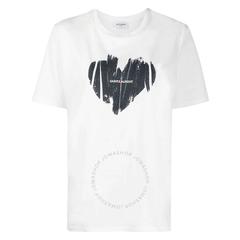 【变相5.5折】Saint Laurent圣罗兰 爱心涂鸦logoT恤