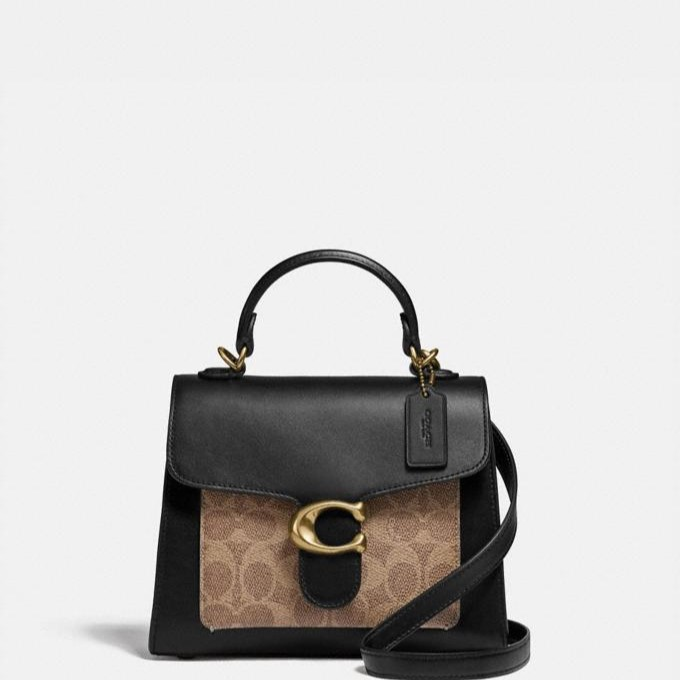 Coach Tabby Top Handle 20 In Signature Canvas