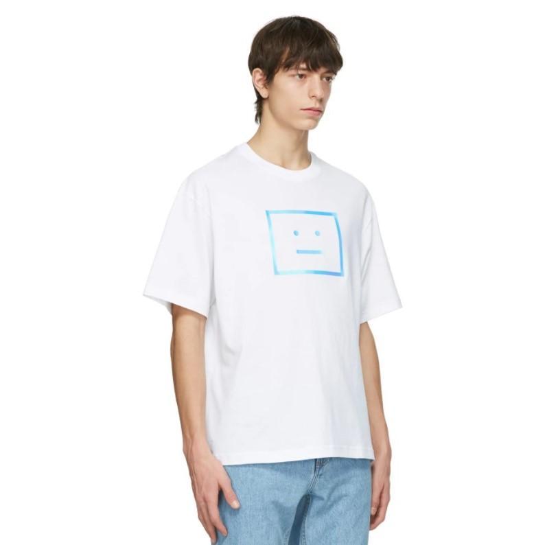 降价!ACNE STUDIOS 白色 LOGO 男士夏季 短袖T 恤