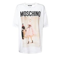 BUG价!【变相4.7折+高返15%】MOSCHINO LOGO 印花 棉质平纹针织 女士 T恤