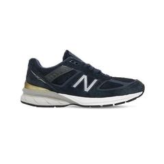 """白菜价【变相5.6折+高返15%】NEW BALANCE """"990 V5"""" 海军蓝 皮革运动鞋 黄金码全"""