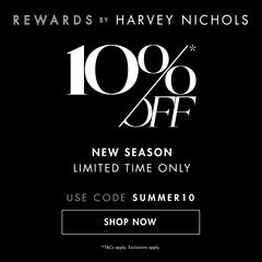 Harvey Nichols:新季单品上新9折购+折扣区低至4折