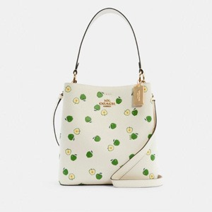 Coach Town Bucket Bag With Apple Print