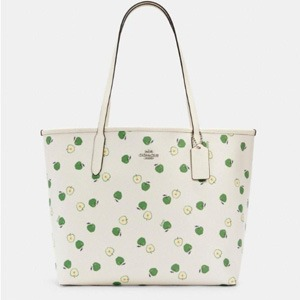 Coach City Tote With Apple Print