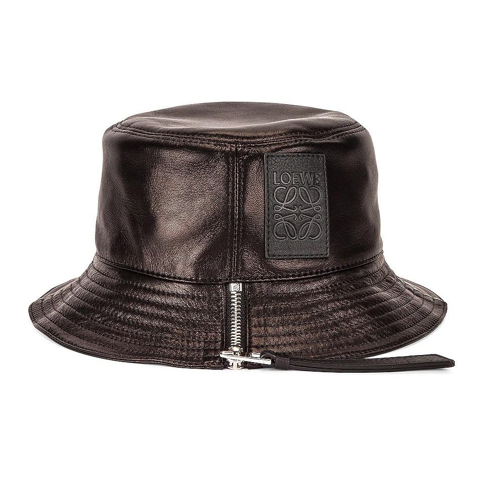 LOEWE 皮革拉链渔夫帽 8折