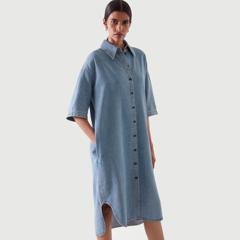 【上新】COS 牛仔衬衫裙 8折