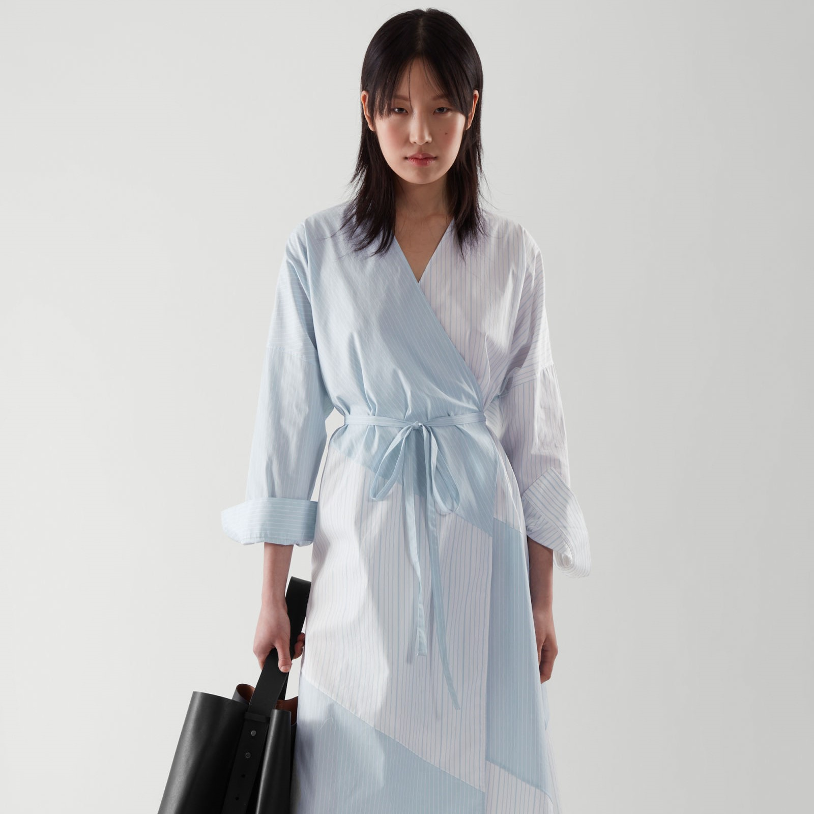 COS 不规则系带衬衫裙 5折