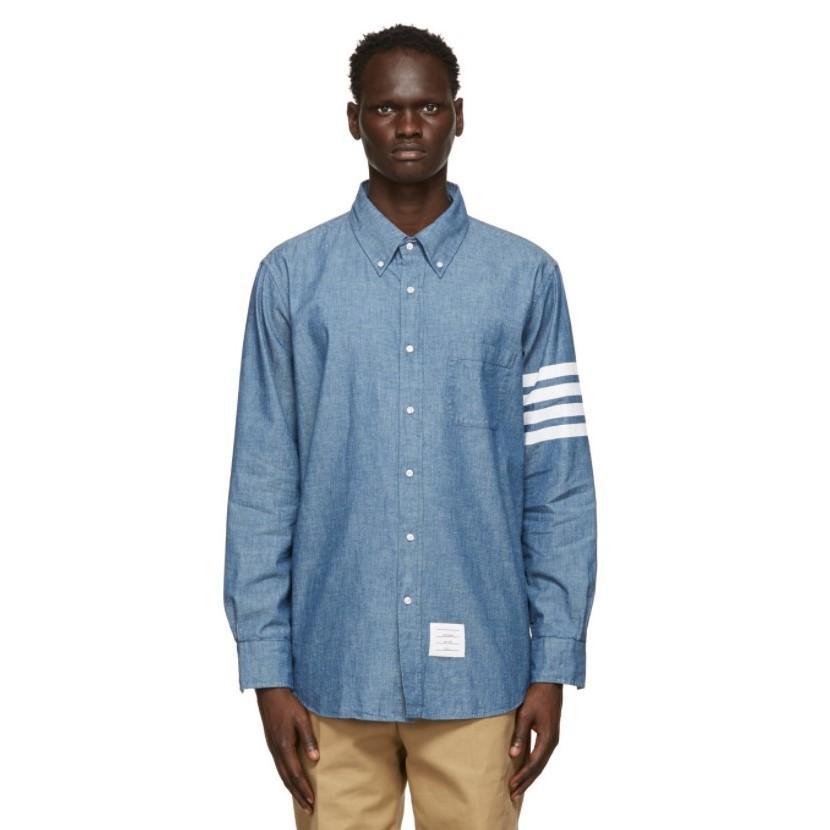 THOM BROWNE 蓝色 衬衫 私密7.9折 黄金码全