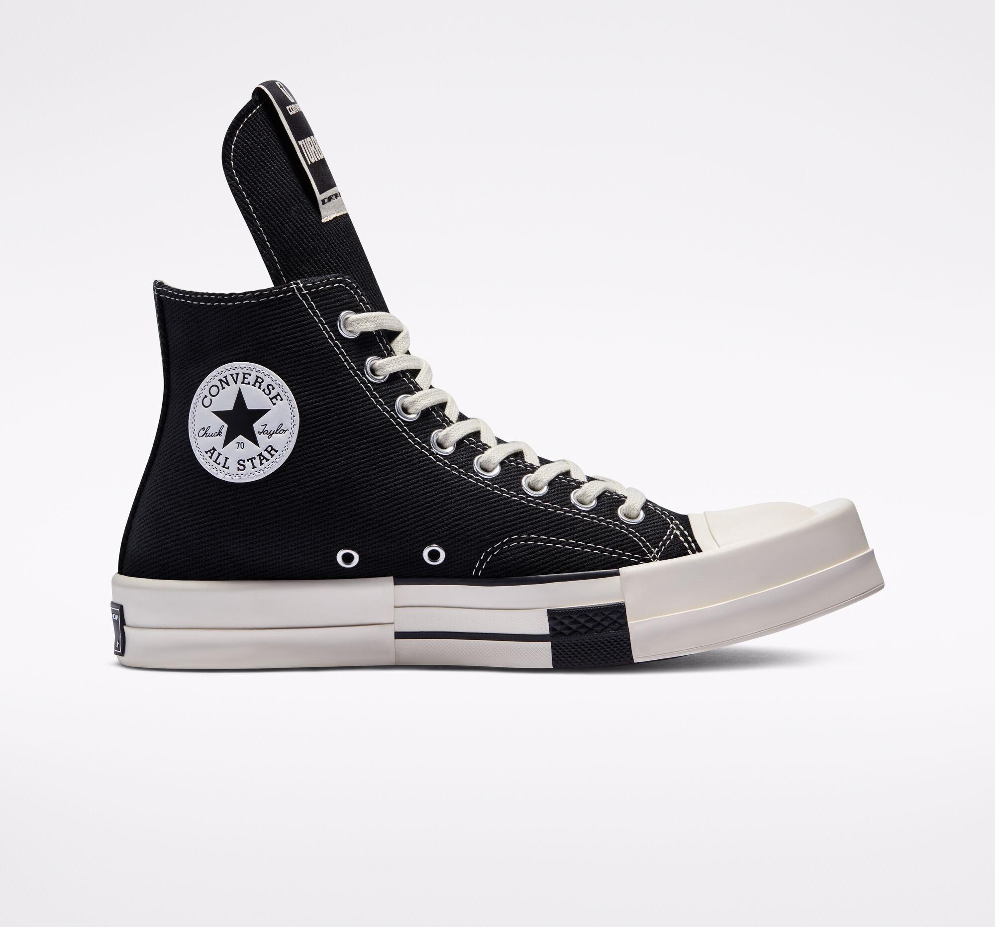 Converse x Rick Owens DRKSHDW 暗黑教父 TURBODRK Chuck 70 高帮 小码全