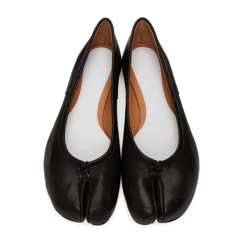 Maison Margiela 黑色Tabi芭蕾舞鞋 黄金码全 降价 5.8折