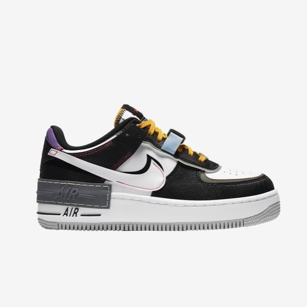 Nike Air Force 1 双钩 黑白 解构 少量现货